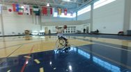 Stock Video Footage of Wheelchair Basketball Players(HD)c