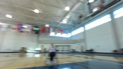 Wheelchair Basketball(HD)c Stock Footage