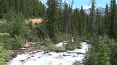 Stock Video Footage of WorldClips-Moraine Lake Stream-ws