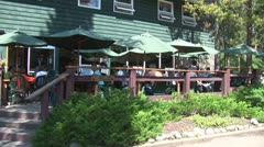 WorldClips-Mountain Lodge Cafe Stock Footage
