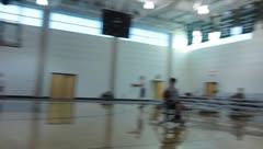 Wheelchair Basketball Game(HD)c Stock Footage
