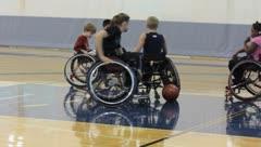 Children in wheelchairs(HD)c Stock Footage