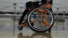 Wheelchair Sport(HD)c - stock footage