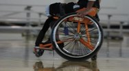 Stock Video Footage of Wheelchair Sport(HD)c