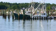 Fishing Boats in the Stillness Stock Footage