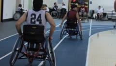 Wheelchair Track(HD)c Stock Footage