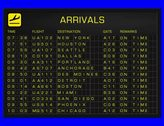4K US Domestic Airport Timetable All Flights Get Cancelled Arrivals FULL PACK Stock Footage