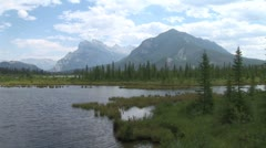 WorldClips-Vermillion Lake Marsh-xws-zoom Stock Footage