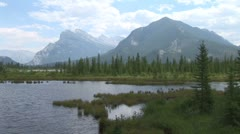 WorldClips-Vermillion Lake Marsh-zoom Stock Footage