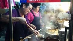 Tofu Master Serves Up Street Food in Taipei - stock footage