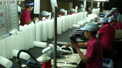 Women Working in Toner Cartridge Factory in Taichung, Taiwan Stock Footage