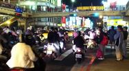 Stock Video Footage of Scooters at Intersection in Taipei, Taiwan