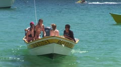 WorldClips-Beach Girls in Boat-zoom Stock Footage