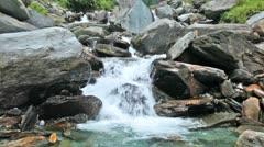 Bhagsu waterfall. Bhagsu, Himachal Pradesh, India Stock Footage