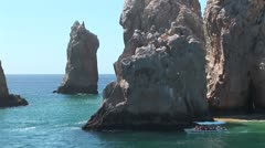WorldClips-Cabo Peninsula Rocks-zoom-pov Stock Footage