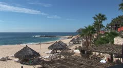 WorldClips-Cabo Resort Beach-overhead Stock Footage