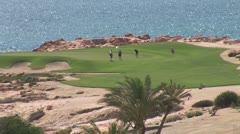 WorldClips-Cabo Seaside Golf Green Stock Footage