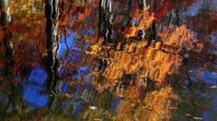 Brilliant Autumn Reflection Loop - stock footage
