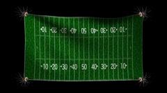 American football match-up background incle alpha matt Stock Footage