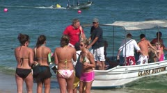 WorldClips-Girls-Water Taxi Stock Footage