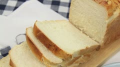 Buttering Bread - stock footage