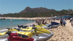 WorldClips-Waverunners on Beach Stock Footage