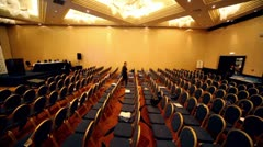 Chair rows in hall on International Tax Congress TaxExpo-2010 Stock Footage