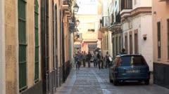 WorldClips-Cadiz Back Passage-zooms Stock Footage