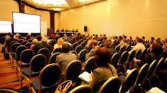 Auditorium looking on presentation on International Tax Congress TaxExpo-2010 Stock Footage