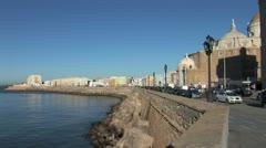 WorldClips-Cadiz Coast-xws-pan Stock Footage