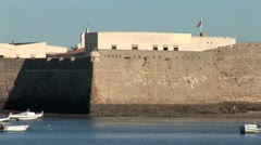 WorldClips-Cadiz Palace Spanish Ramparts-zoom - stock footage