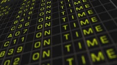 Airport Timetable All Flights Get Cancelled 01 Stock Footage
