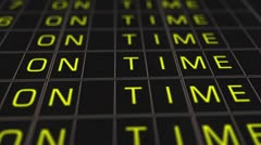 Airport Timetable All Flights Get Cancelled 02 Stock Footage