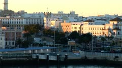 WorldClips-Port of Cadiz Morning-zooms Stock Footage