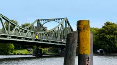 Glinicke bridge berlin Stock Footage