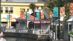 WorldClips-Cancun Mall Canal-zoom Stock Footage