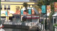 Stock Video Footage of WorldClips-Cancun Mall Canal-zoom