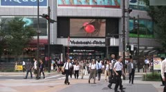 Akihabara - Electronic Store. People. Consumerism. Yodobashi Camera Stock Footage