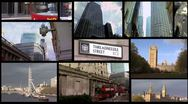 The city of London.  Finance and government - montage Stock Footage