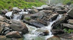 Bhagsu waterfall Stock Footage