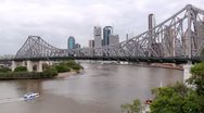 Stock Video Footage of Story Bridge 3 Ferry