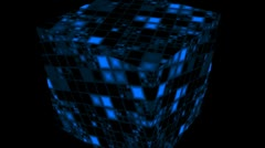 Rotating cube - stock footage