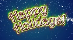 HappyHolidaysBlueBG Stock Footage