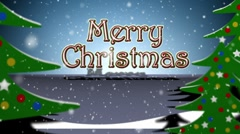 MerryChristmasTrees Stock Footage