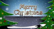 Stock Video Footage of MerryChristmasTrees