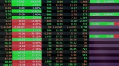 Real stock market trading screen - stock footage