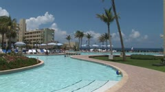 WorldClips-Cancun Resort Pool-xws-pan - stock footage