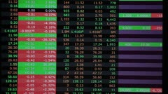 Real stock market trading screen accelerated - stock footage