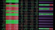 Real stock market trading screen accelerated Stock Footage