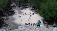 Stock Video Footage of Coba stairs pyramide